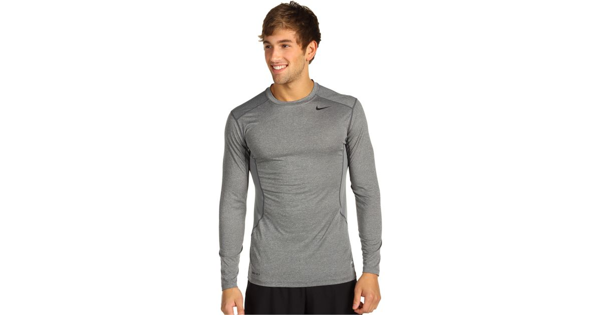 13cc43fe7 Lyst - Nike Pro Core Fitted Long Sleeve Top 2.0 in Gray for Men