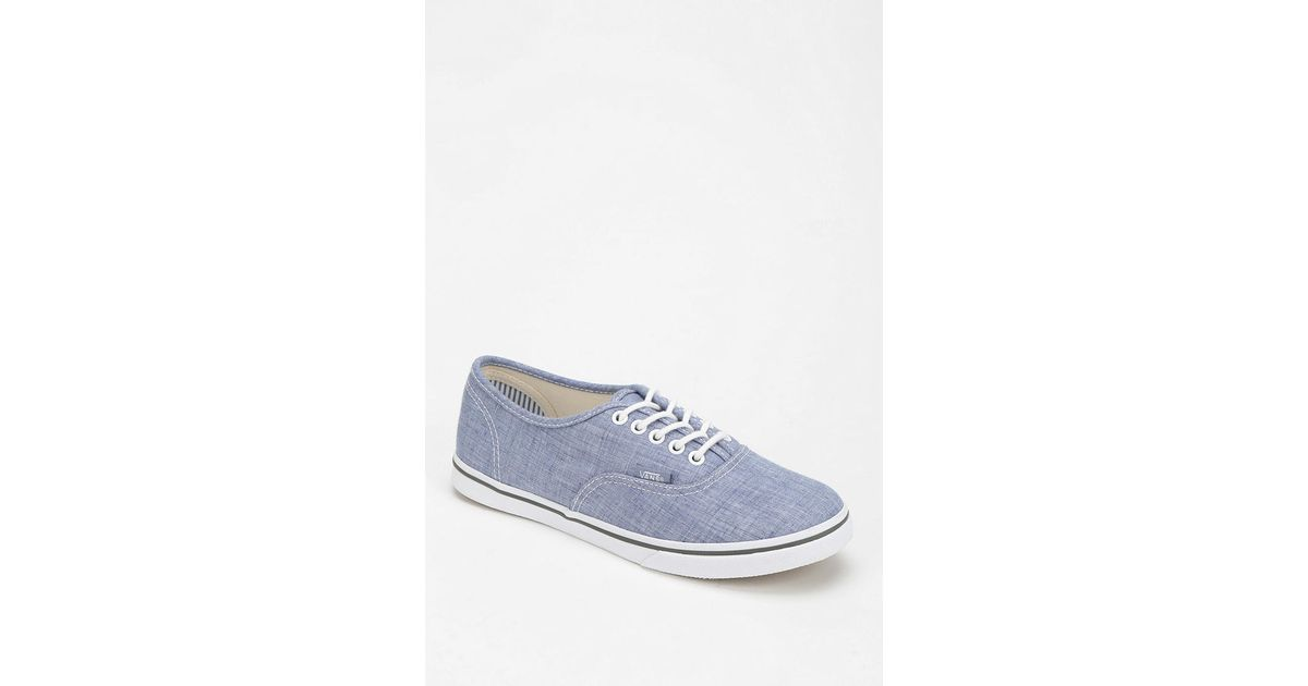 4beed6d1ad Lyst - Vans Authentic Lo Pro Chambray Womens Lowtop Sneaker in Blue