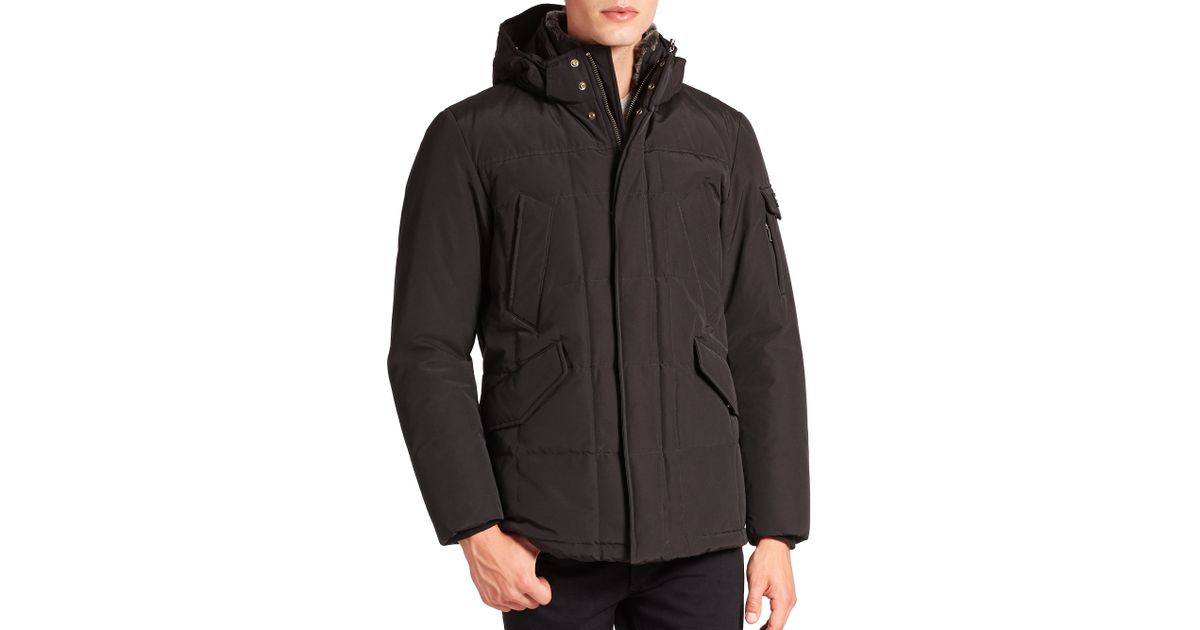 woolrich blizzard jacket in black for men lyst. Black Bedroom Furniture Sets. Home Design Ideas