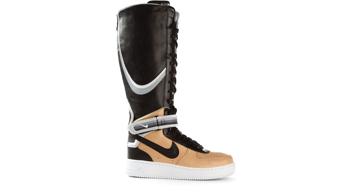 e228654a1cf9 ... sweden lyst nike riccardo tisci air force 1 leather high top sneakers  in black 95c8b f06d9