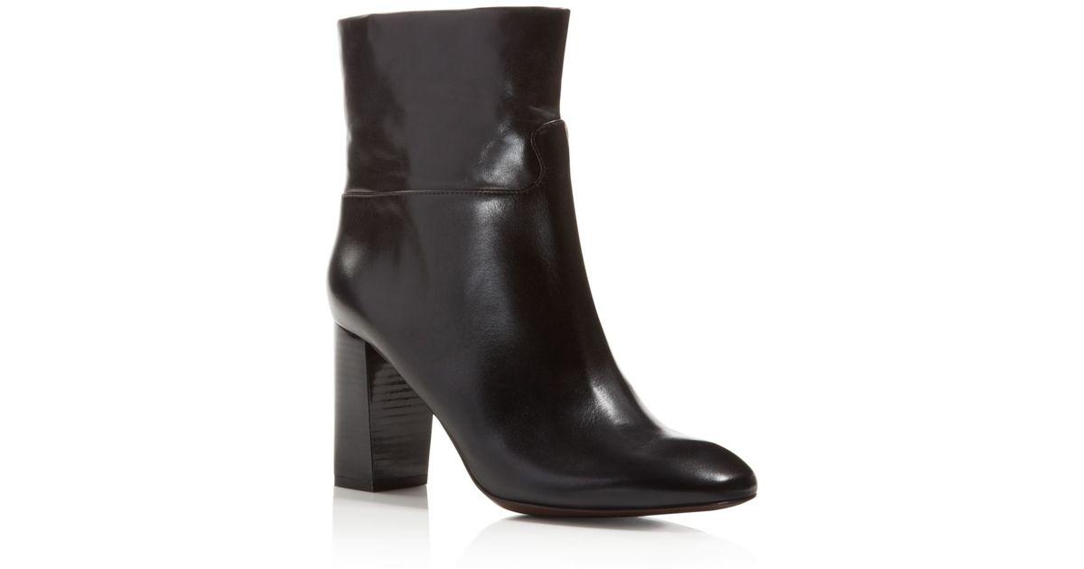 0695905c280 Lyst - Tory Burch Devon High Heel Booties in Black