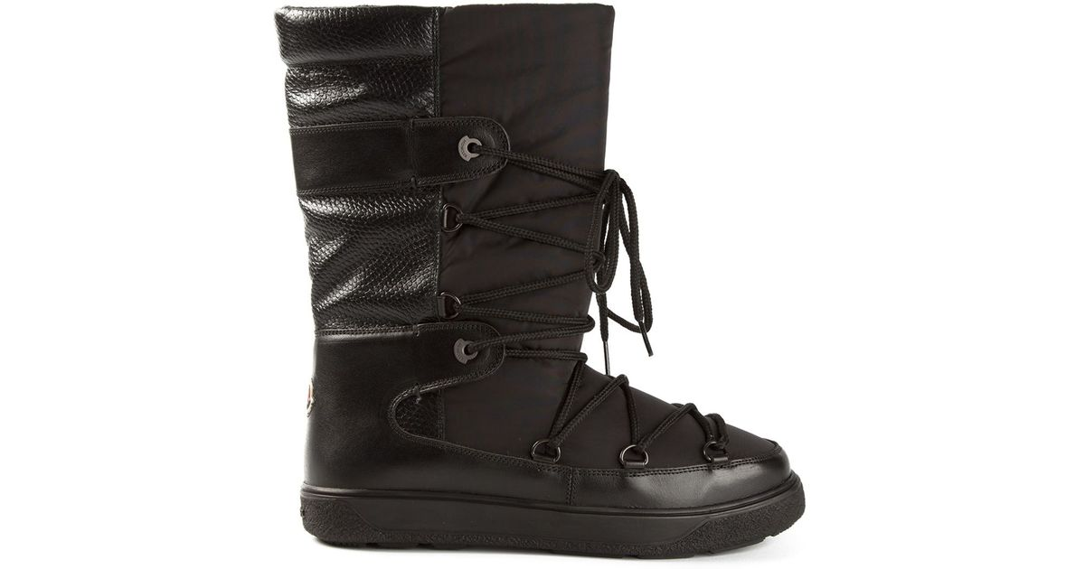 f3784bc7ae91 Lyst - Moncler Fanny Snow Boots in Black