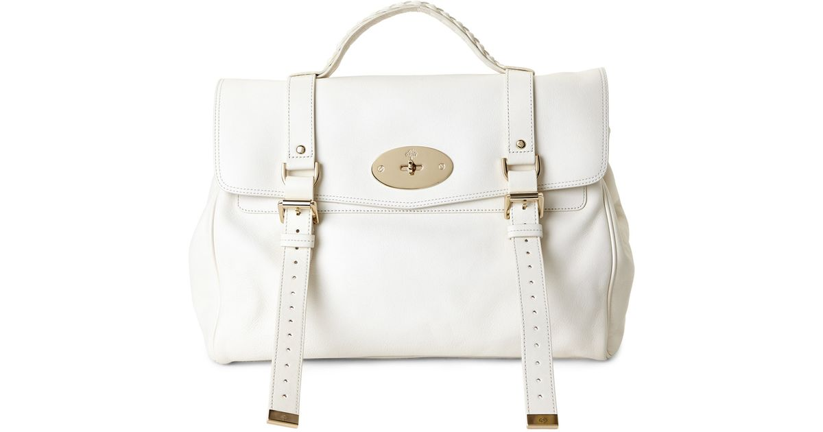 458e4d22ece Lyst - Mulberry Cream Oversized Alexa Handbag in White