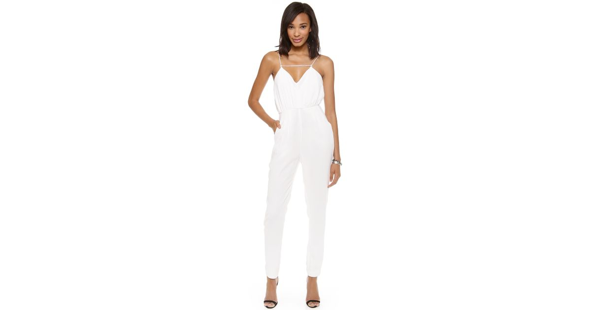 cde81124f669 Lyst - Finders Keepers The Someday Jumpsuit - Dark Navy in White
