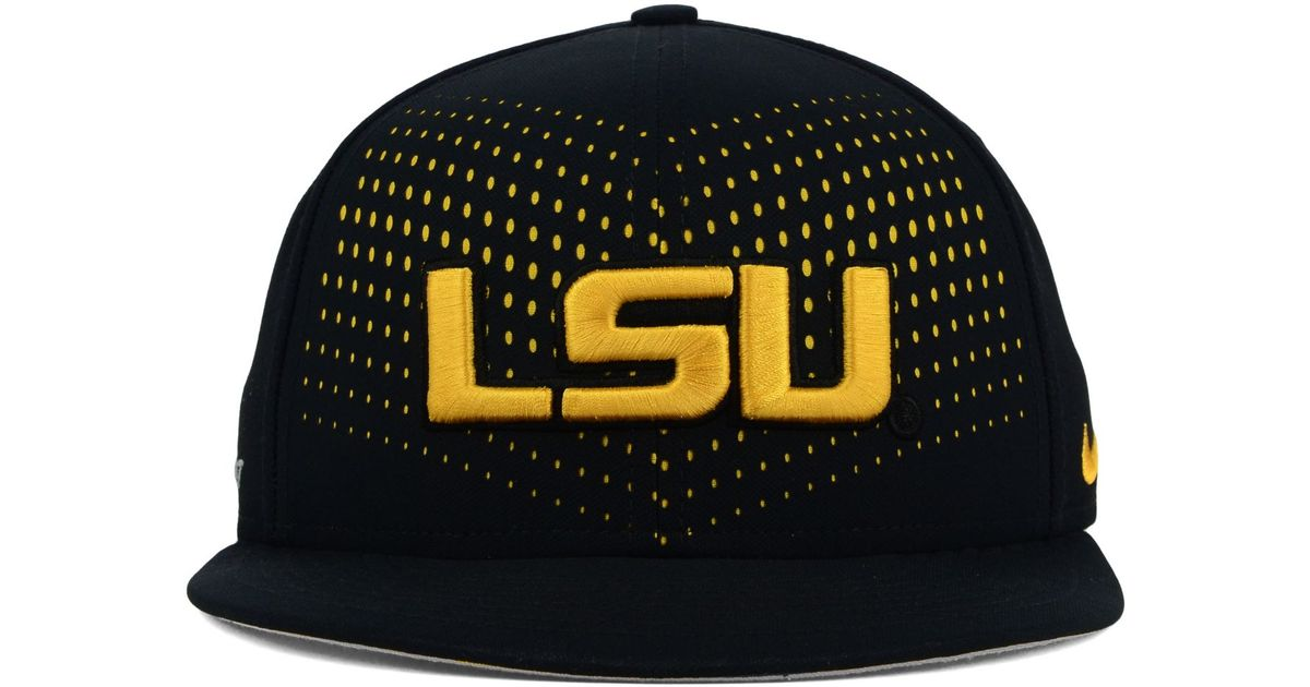new style 8be1c 28ca5 Lyst - Nike Lsu Tigers True Seasonal Snapback Cap in Black for Men