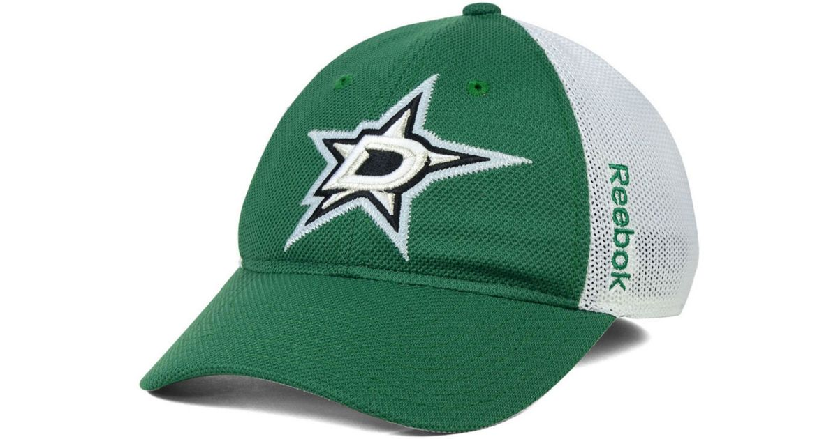 buy popular 201d7 bc3af ... new zealand lyst reebok dallas stars nhl iced meshback flex cap in green  for men be42b