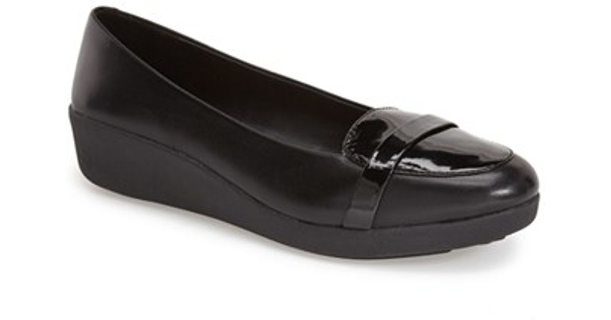 63aa134af Fitflop  f-pop  Loafer in Black - Lyst