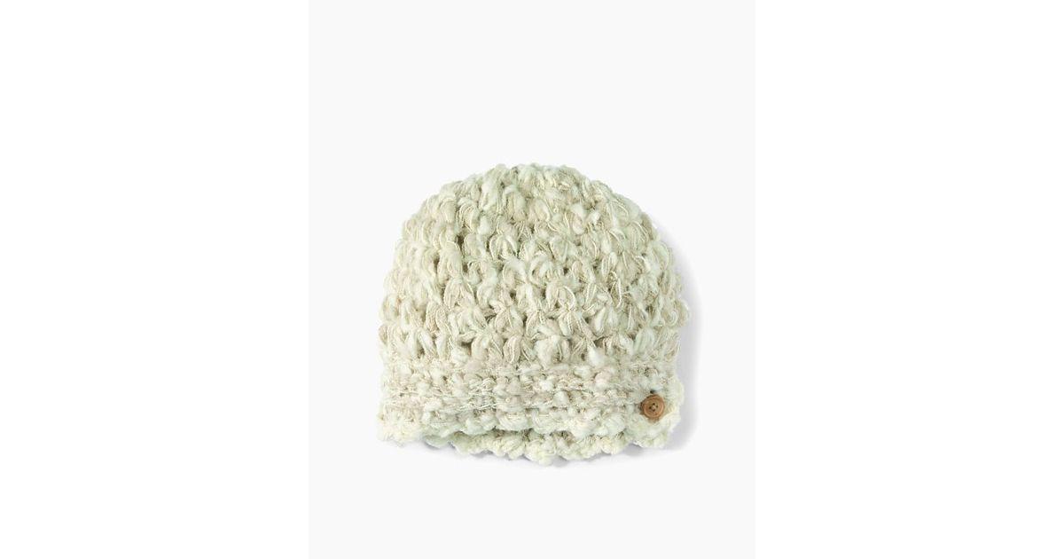 80dd5490fa3 Lyst - San Diego Hat Company Womens Knubby Yarn Button Beanie in White