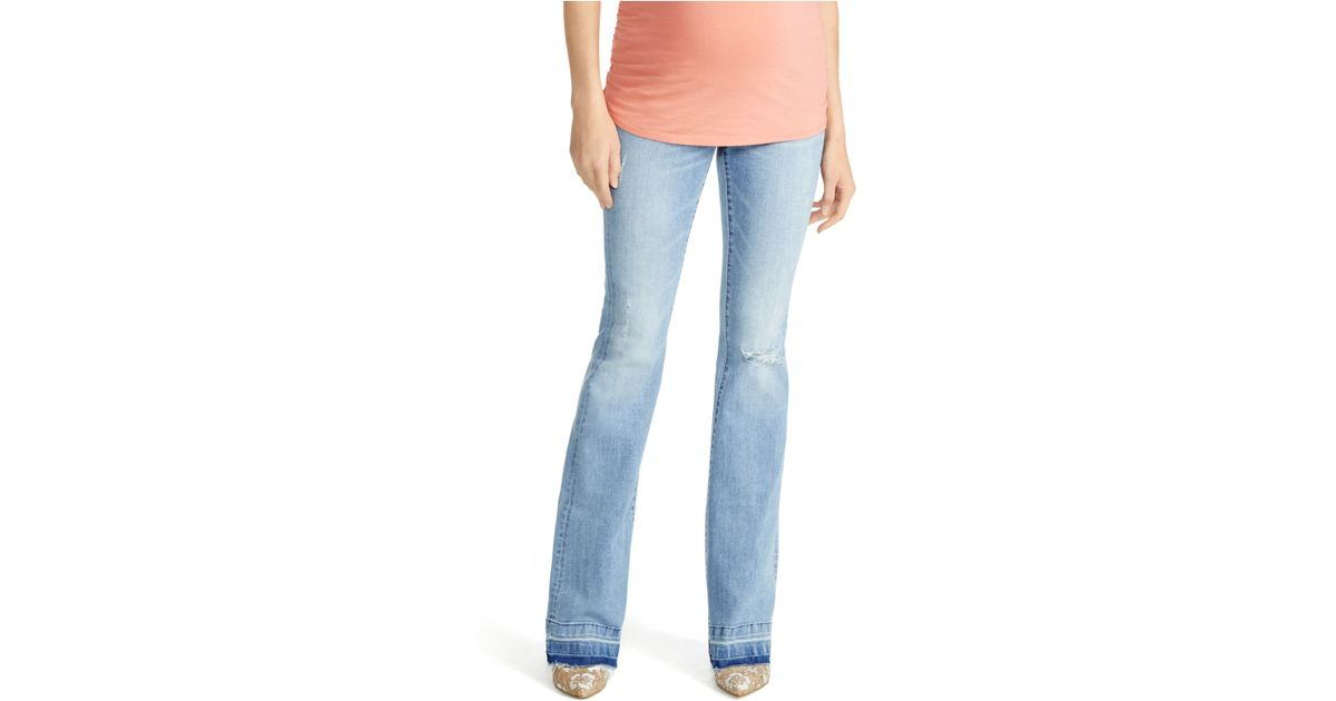 jessica simpson maternity flared jeans in blue lyst. Black Bedroom Furniture Sets. Home Design Ideas
