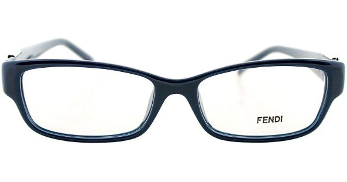 b2bcb3af4587 Lyst - Fendi 1015r 424 Rectangular Plastic Eyeglasses in Blue