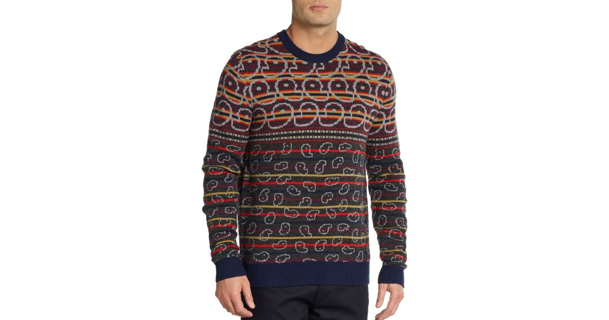 Marc by marc jacobs Finsbury Merino Wool Fair Isle Sweater for Men ...