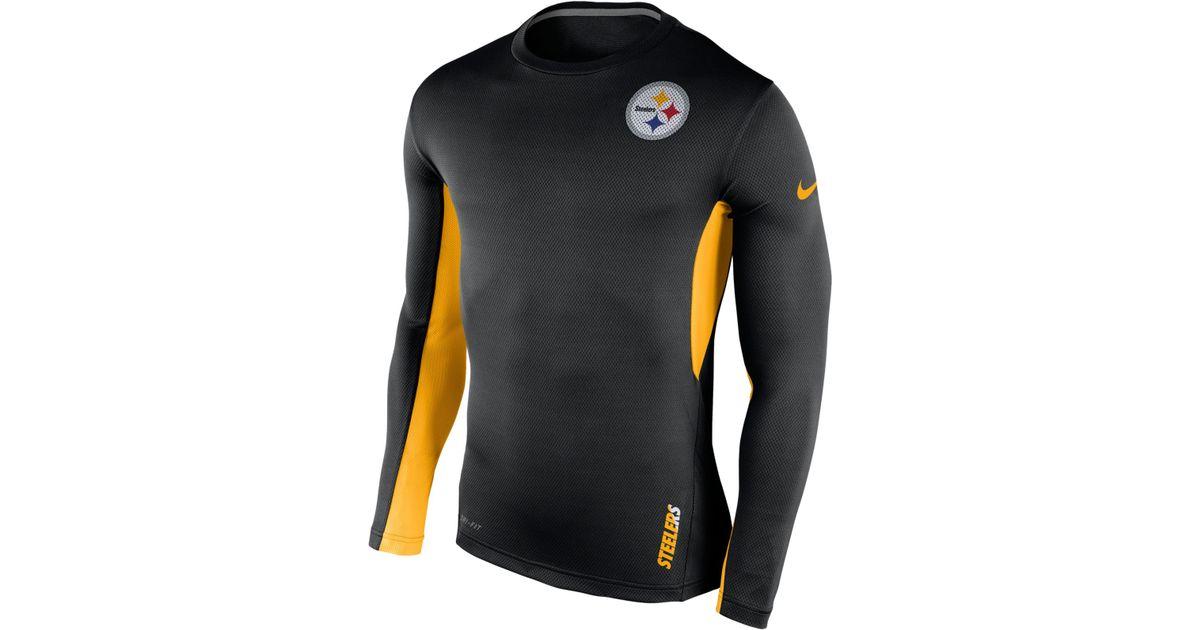 Lyst - Nike Men s Long-sleeve Pittsburgh Steelers Vapor T-shirt in Black  for Men 178fa389e