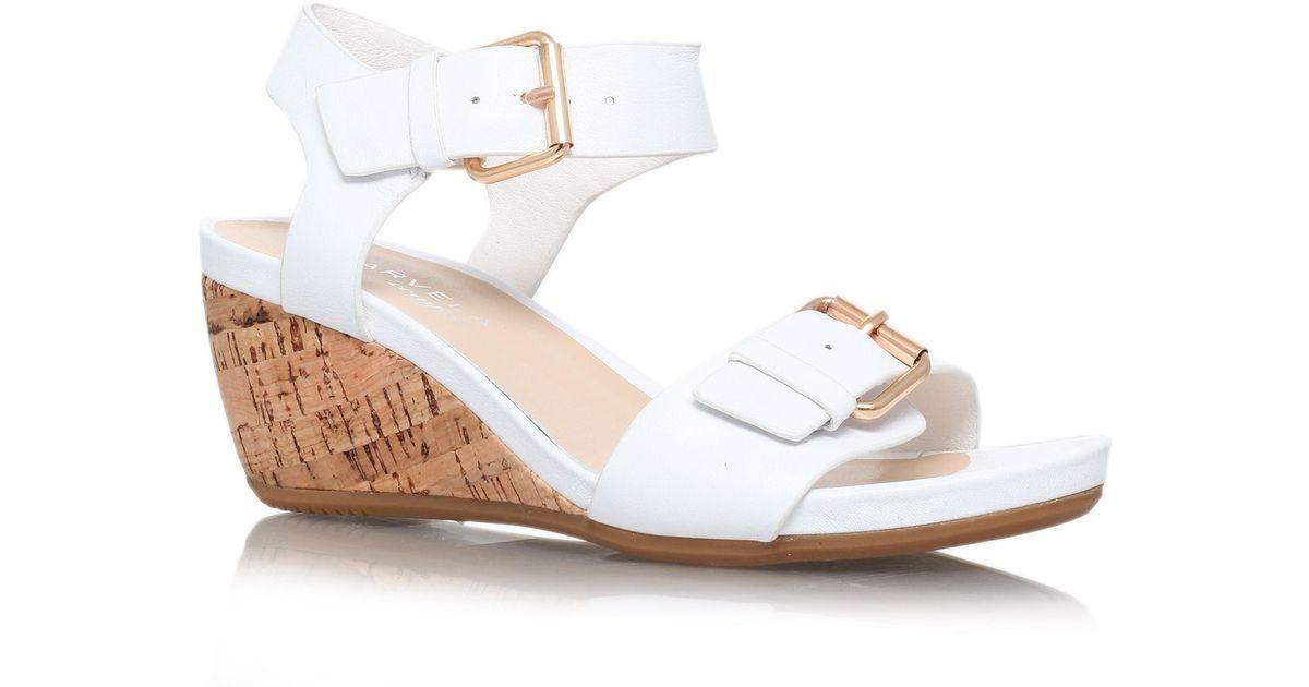 carvela kurt geiger splinter low wedge heel sandals in