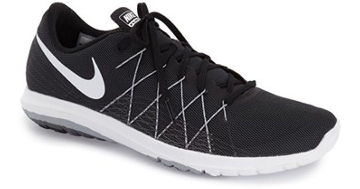 nike flex fury 2 running shoe in black lyst