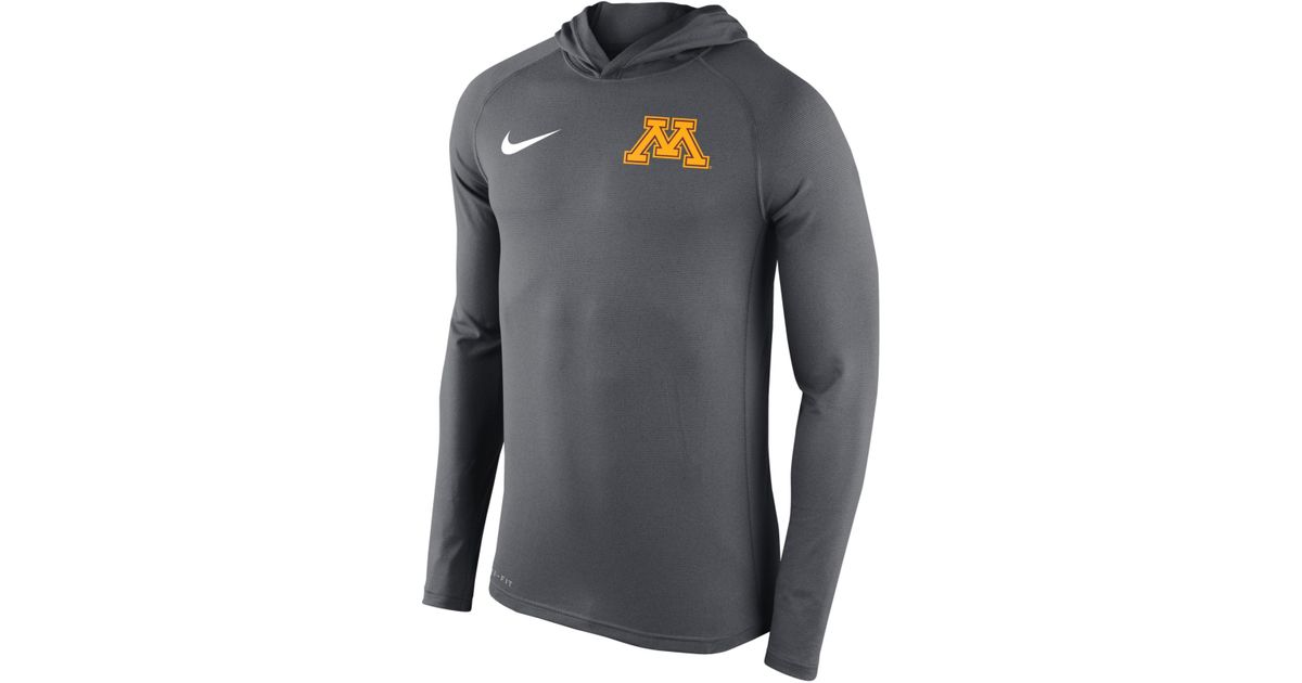 11e21e84d Nike Men's Minnesota Golden Gophers Stadium Dri-fit Touch Hoodie in Gray  for Men - Lyst