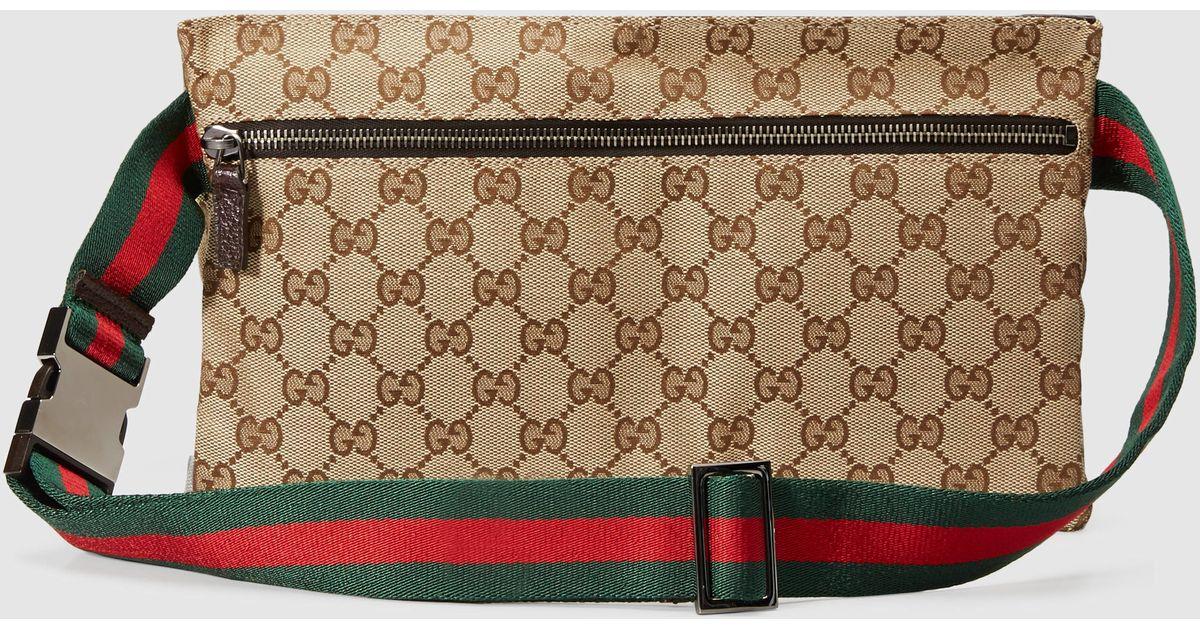 ac1f0d92dcba Gucci Original Gg Canvas Belt Bag in Natural - Lyst