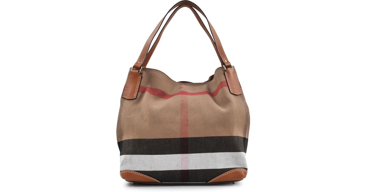 Lyst - Burberry Sm Maidstone Brit Canvas Bag in Brown abb53790024eb