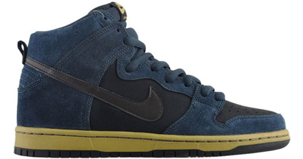 Lyst - Nike Sb Dunk High Pro Blue Gold in Blue for Men ac9dad1d9