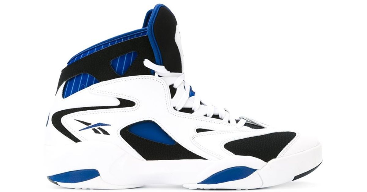 online store bf293 aadc2 Reebok Shaq Attack Hi-Top Sneakers in White for Men - Lyst