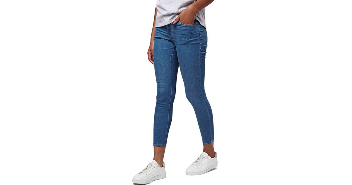 Topshop Moto 'pretty Leigh' Skinny Jeans in Blue | Lyst