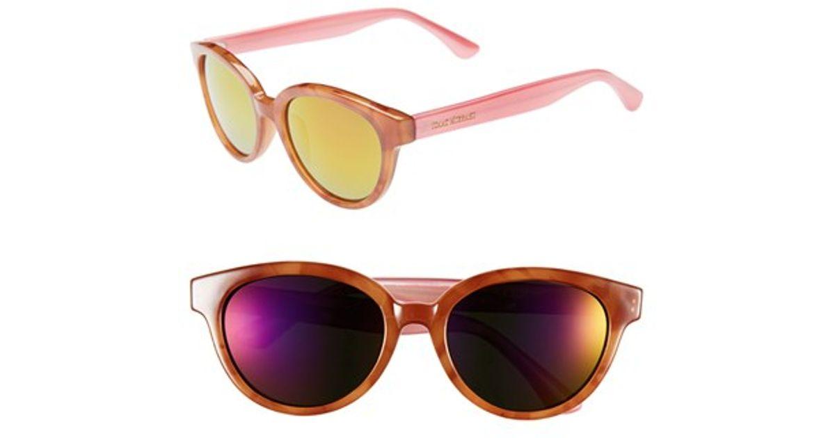 228e8877c6952 Lyst - Isaac Mizrahi New York 52mm Retro Sunglasses - Honey Tortoise  Pink  in Natural