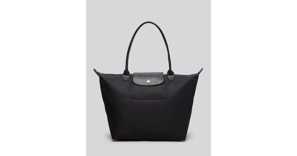 eafff01e0 Longchamp Le Pliage Neo Large Tote in Black - Lyst
