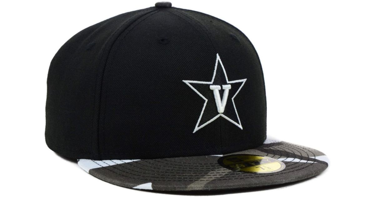 b8f422e33a9d9 ... discount lyst ktz vanderbilt commodores ncaa urban camo 59fifty cap in  black for men a40f9 a5cb0