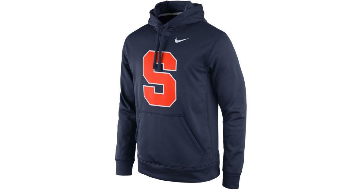 1211f8c61b6c Lyst - Nike Men s Syracuse Orange Performance Practice Hoodie in Blue for  Men