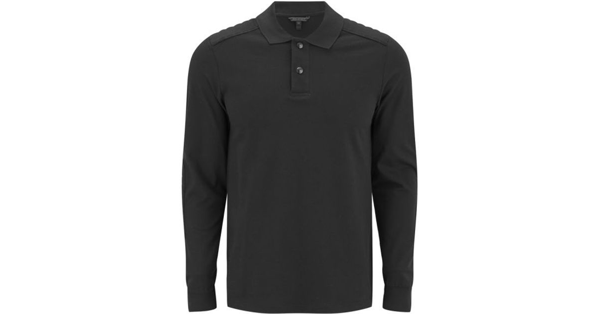 87eae501e Belstaff Mens Ashwell Long Sleeved Polo-shirt in Black for Men - Lyst