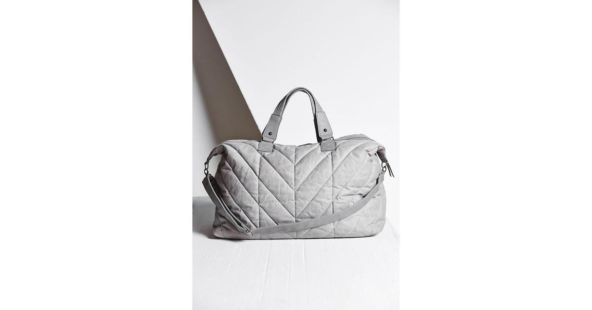 Bdg Quilted Weekender Bag In Gray Lyst