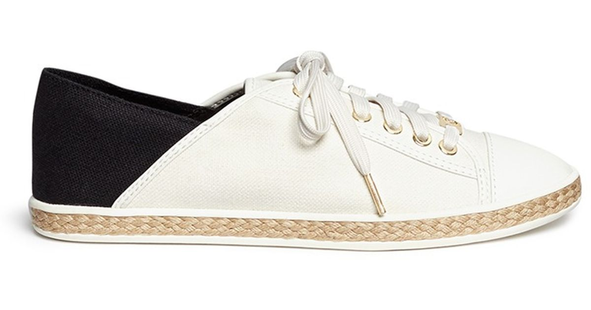 2b5bfa1df020 Michael Kors  kristy  Lace-up Sneakers in White - Lyst