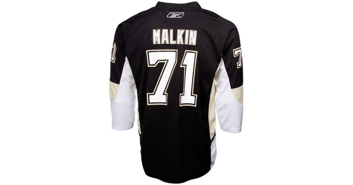 da694cc79 Lyst - Reebok Kids  Evgeni Malkin Pittsburgh Penguins Replica Jersey in  Black for Men