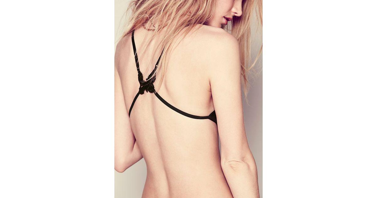 9fd06d076d61a Lyst - For Love   Lemons Butterfly Kiss Bralette in Black