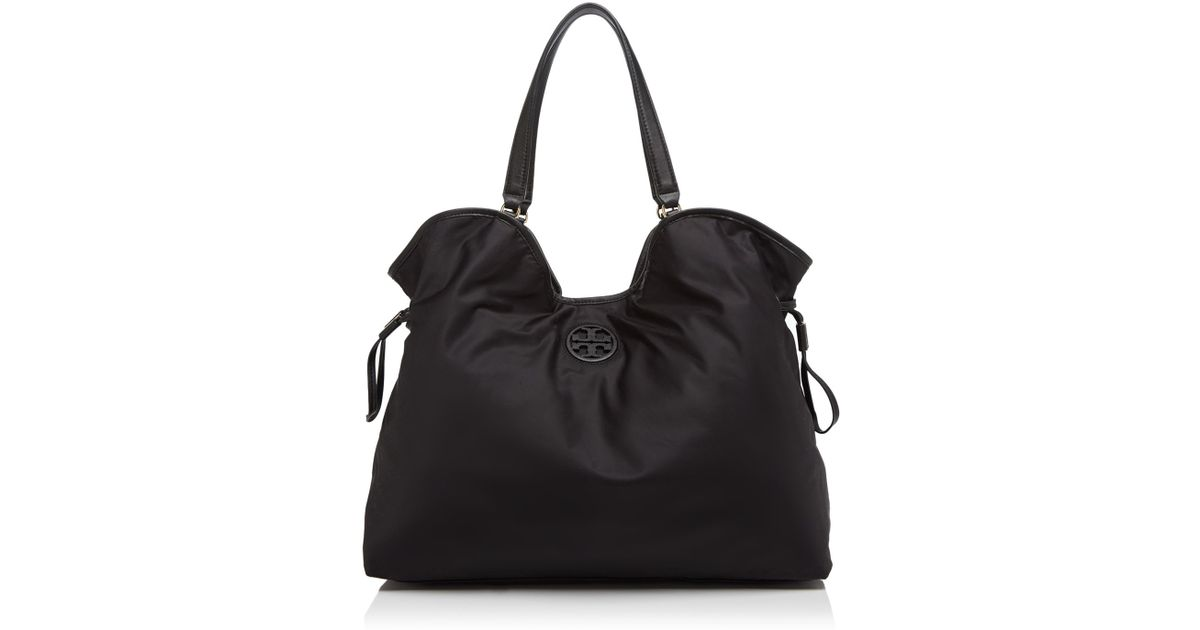860551dc041 Lyst - Tory Burch Nylon Slouchy Tote in Black
