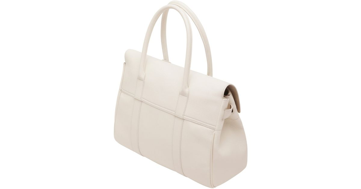 ab35e384b9 Mulberry Bayswater in White - Lyst