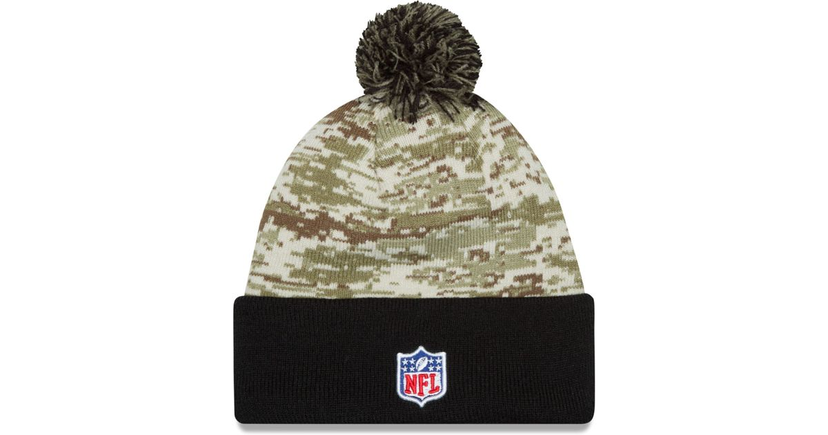 9eabbbcdbf7 ... wholesale lyst ktz pittsburgh steelers salute to service knit hat in  green for men 130cc bd1c1 ...
