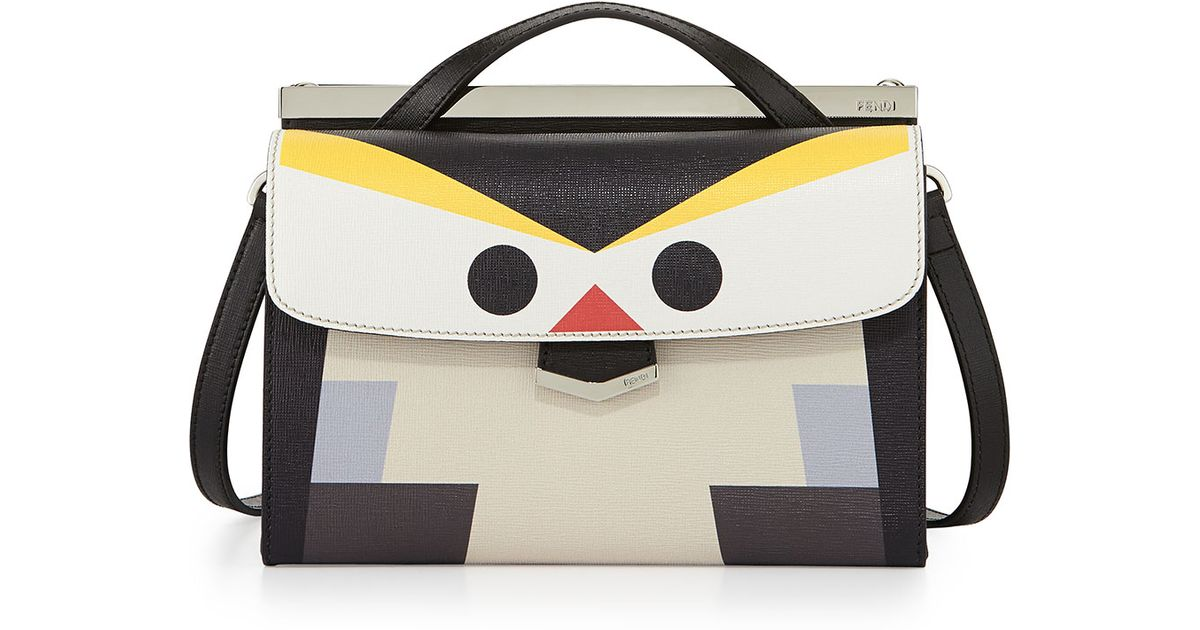 db493c0cb09b ... cheap fendi mini demi jour penguin bag in white lyst c85a6 77420