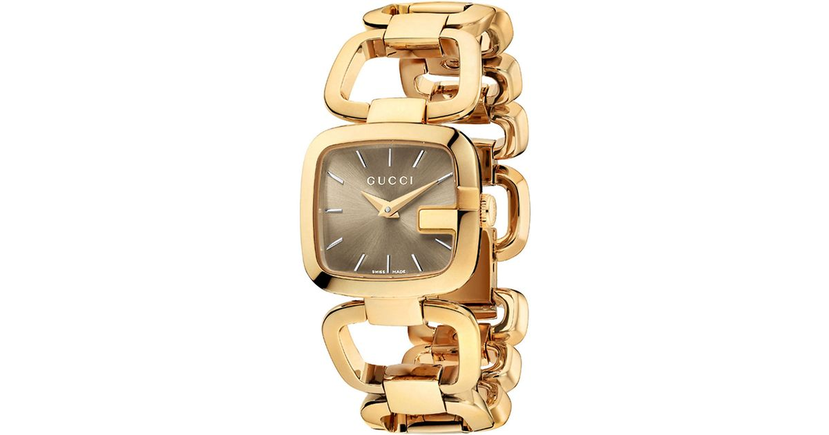 gucci small gold square bracelet in gold lyst