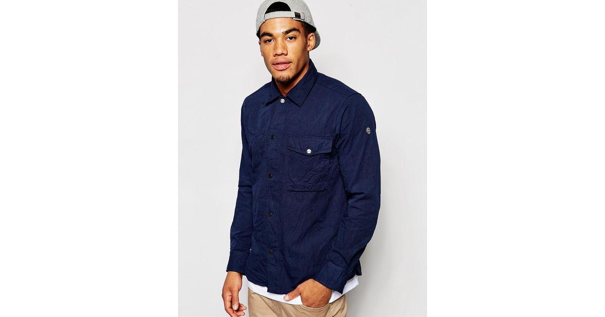 Marshall Artist Field Shirt In Blue For Men Navy Lyst