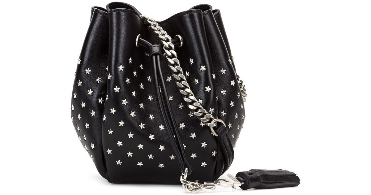 adbd71a677 Saint Laurent Baby  emmanuelle  Bucket Bag in Black - Lyst