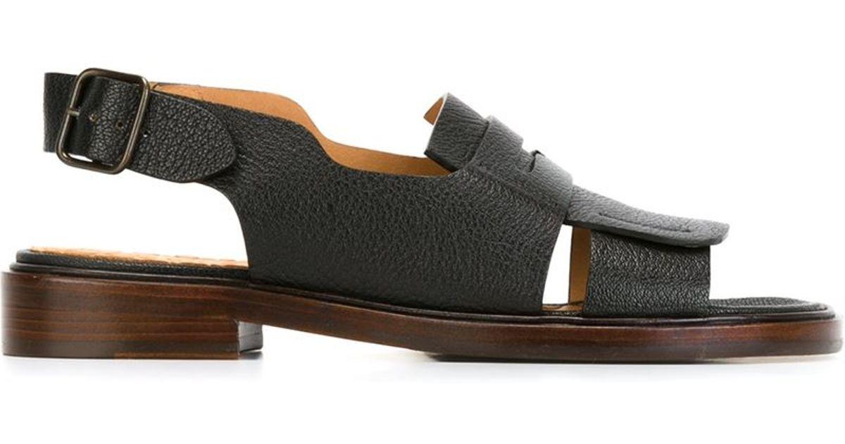 Lyst Sandals Mihara Slingback Flat Black Chie Xw8nOP0k