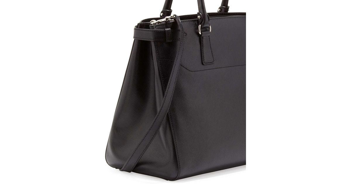 ab46a6b8b6af Lyst - Ferragamo Large Batik Saffiano Tote Bag in Black