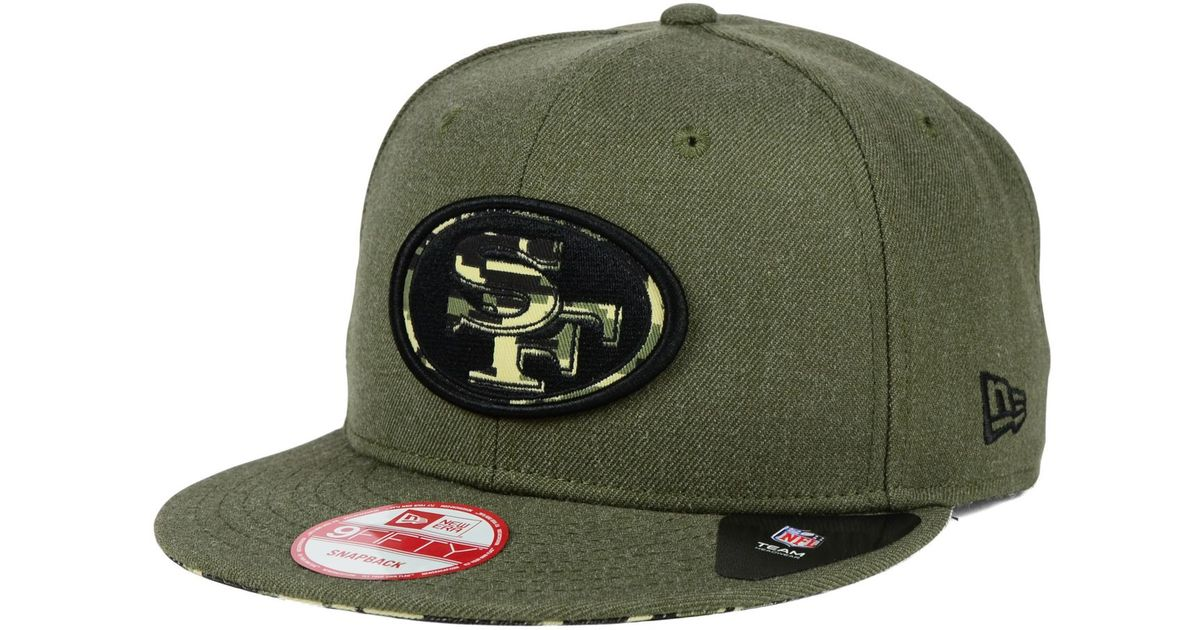 Lyst - KTZ San Francisco 49ers Camo 9fifty Snapback Cap in Green for Men 222b8eec612