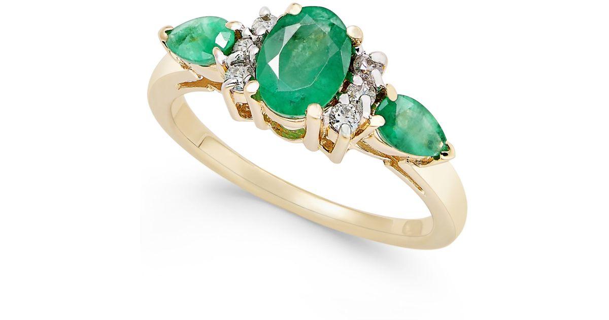 macy s emerald 1 1 4 ct t w and 1 8 ct t w