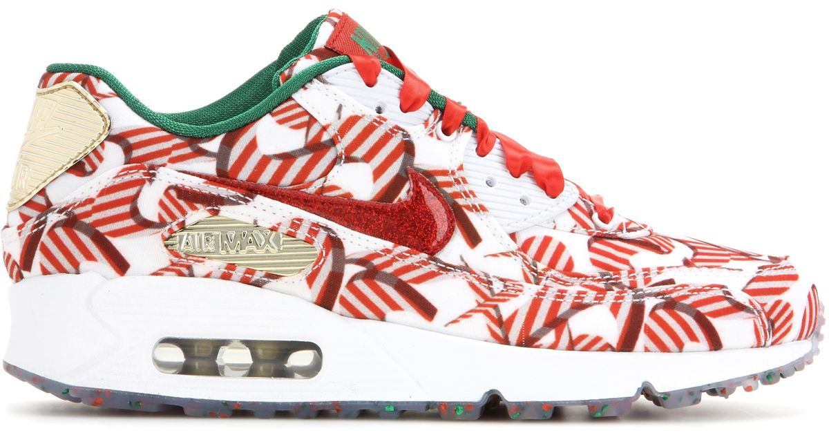 d4977b6462e6 ... uk lyst nike air max 90 qs printed sneakers in white f1299 22a36