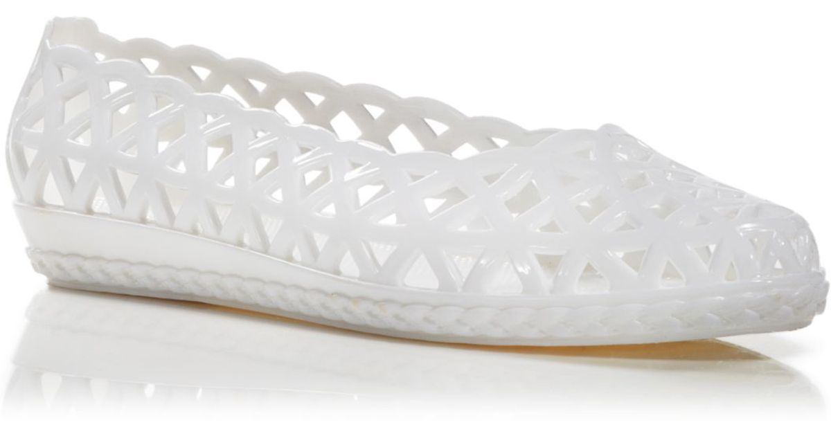 d3faff4cc14c Lyst - Jeffrey Campbell Jelly Flats - Jelly Jam in White