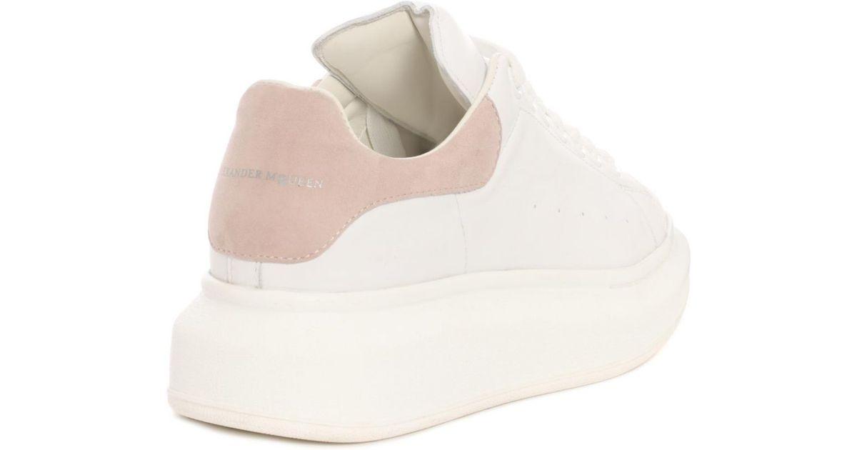 Alexander McQueen White & Pink Oversized Sneakers w7FEYa7L21