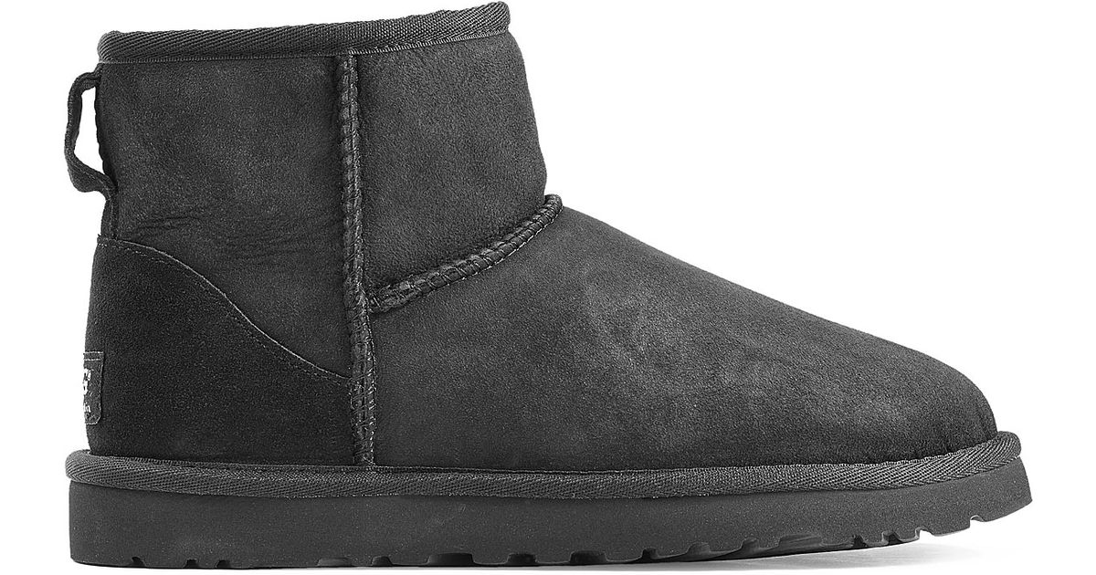 e2a25235cf5 UGG - Gray Classic Mini Suede Boots - Black - Lyst