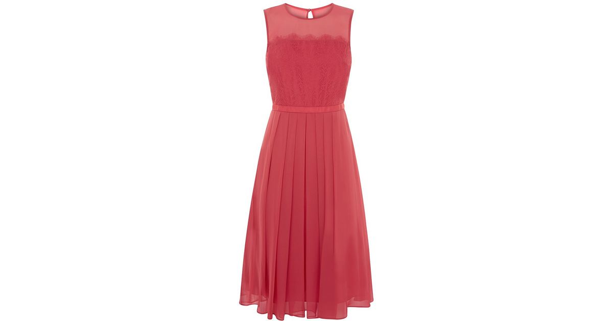 Lyst - Hobbs Rosie Dress in Pink
