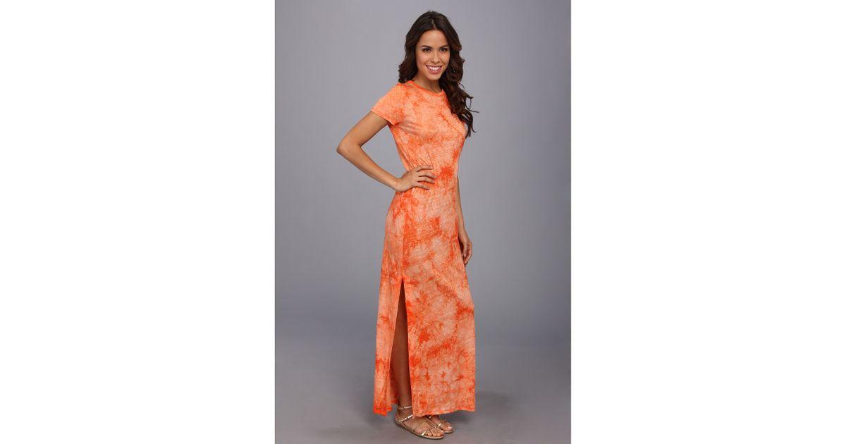1e5cb038d70da MICHAEL Michael Kors Tie Dye Ss Long Dress in Orange - Lyst